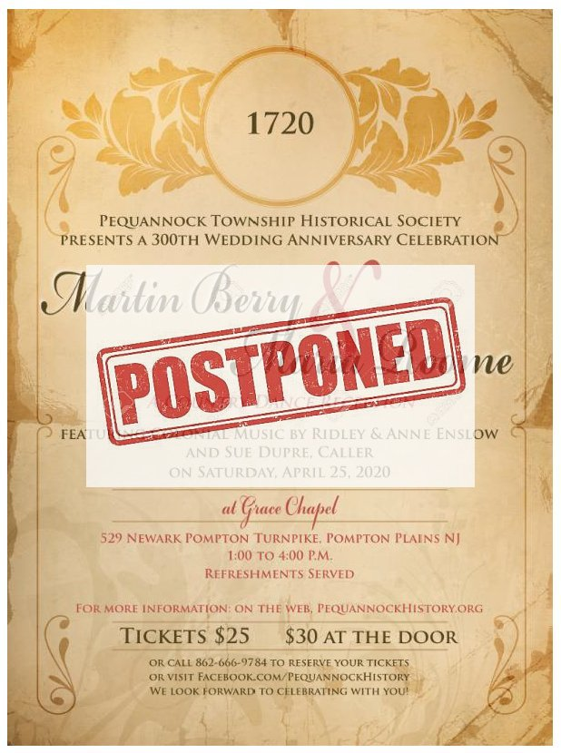300th Celebration - POSTPONED
